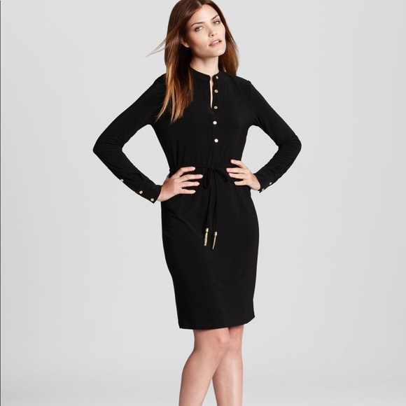 Calvin Klein Dresses & Skirts - Calvin Klein long sleeve black button shirt dress
